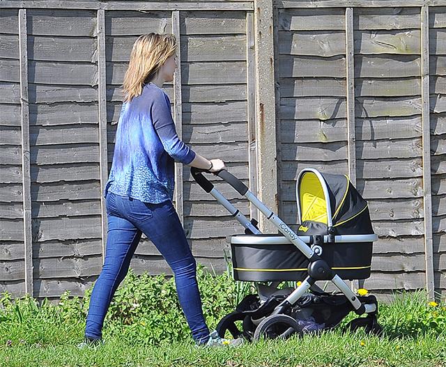 Charlotte Hawkins takes a stroll with Ella Rose