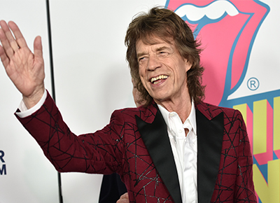 Mick Jagger a father at 73