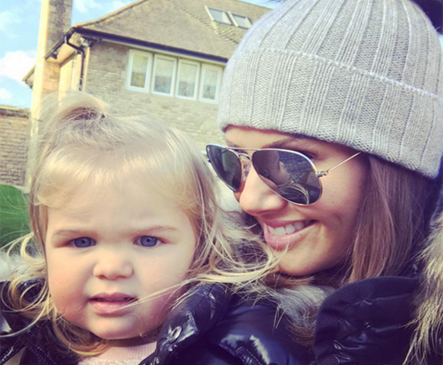Pregnant Becky Vardy enjoys time with her daughter