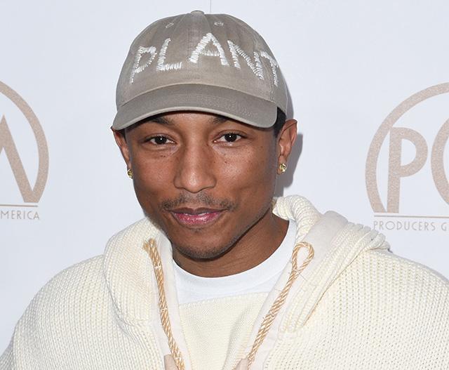 Pharrell Williams is happy, happy, happy