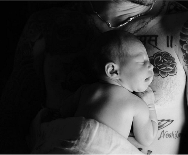 Behati and Adam welcome their baby
