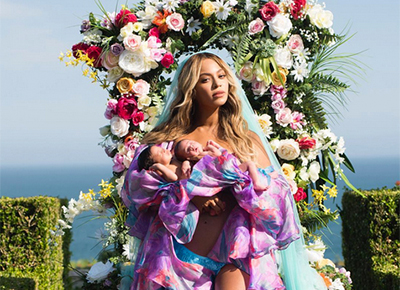 First pictures of Beyonce's twins