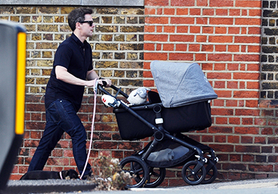 Dec heads out with baby Isla