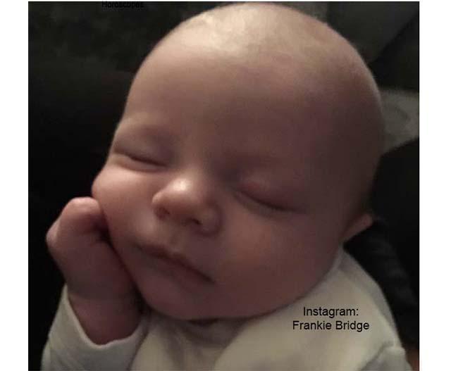 Frankie Bridge Shares Photos of baby Carter