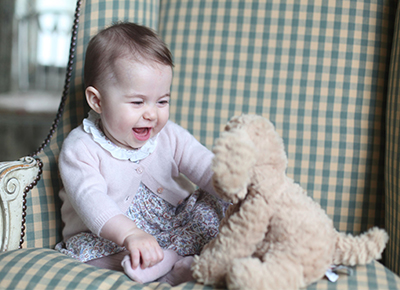 Six month portrait of Princess Charlotte