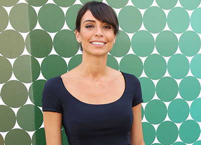 Christine Lampard wraps up for walks with Patricia