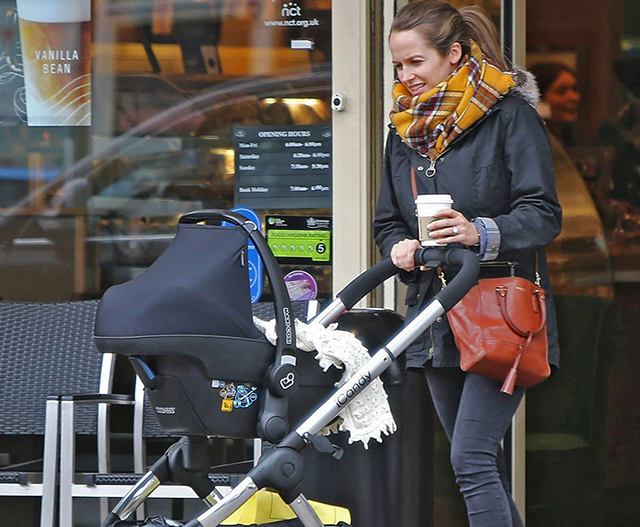Kim Murray out and about with Sophia