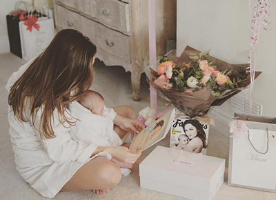 Celebrities enjoy their first Mother's Day