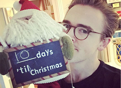 Tom counts down until Christmas