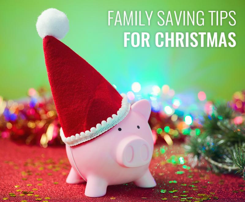 Piggy bank in a santa hat