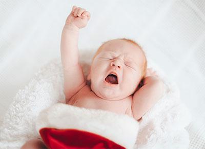 Christmas baby sleeping