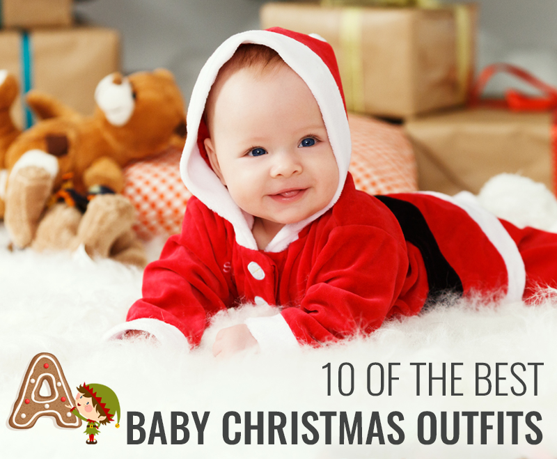 baby in a santa outfit