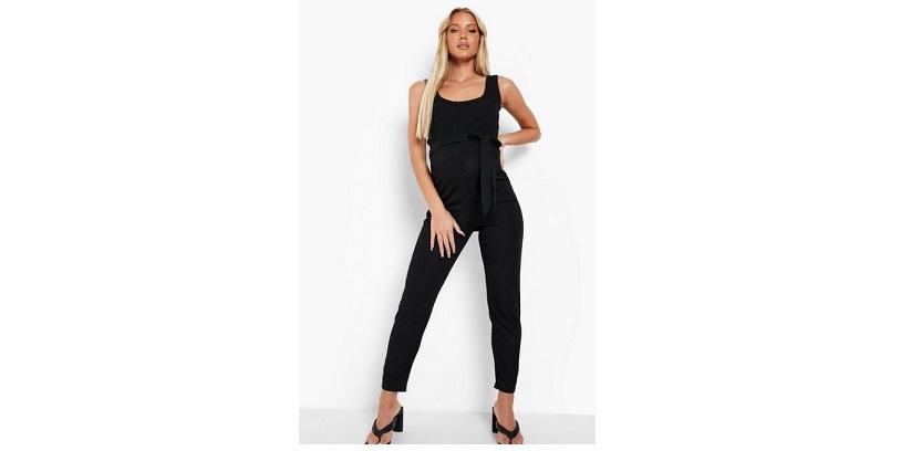 Maternity rib tailored trousers