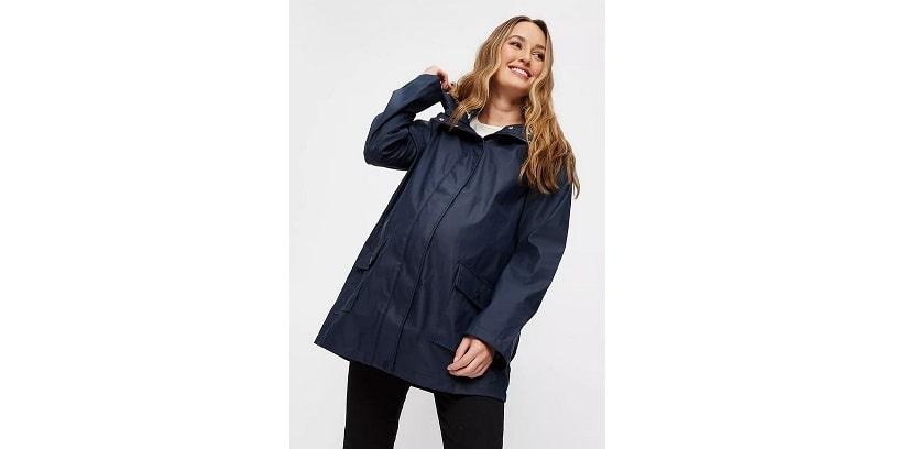 Maternity navy rain coat