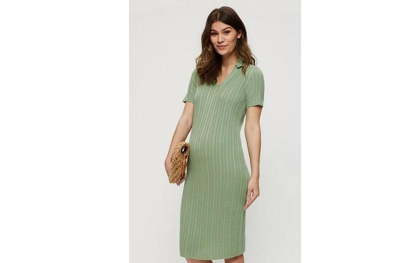 Maternity knitted midi dress