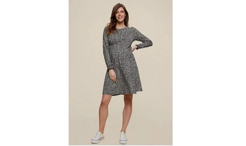 Maternity leopard print dress