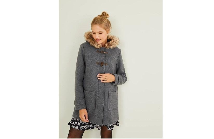 Maternity duffle coat,