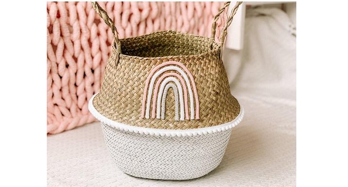 Dipped Rainbow nursery basket