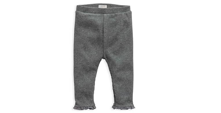 Charcoal Ribbed Leggings