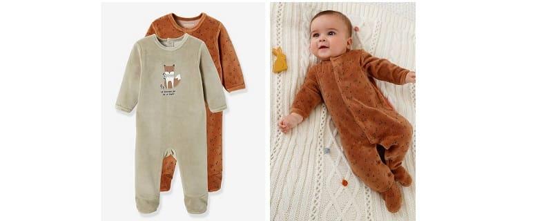 2 Fox sleep suits in velour