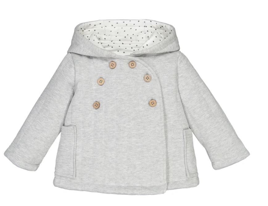 Cotton Mix Hooded Coat