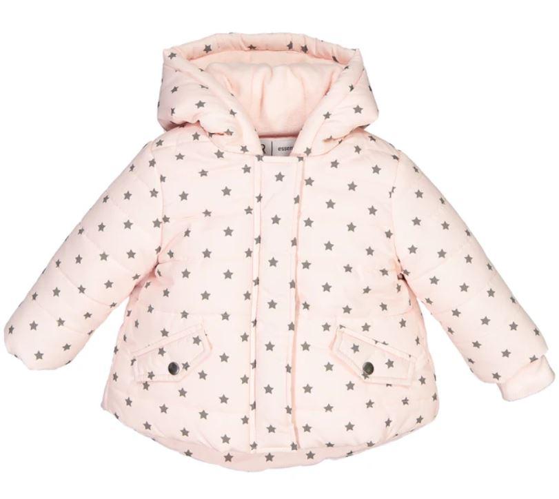 Star Print Hooded Padded Jacket