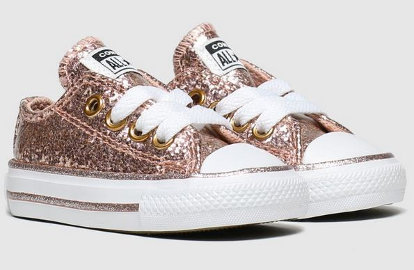 Pink Glitter Converse Trainers