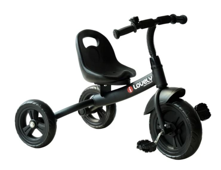 HOMCOM Toddler Three Wheel Plastic Tricycle Bike