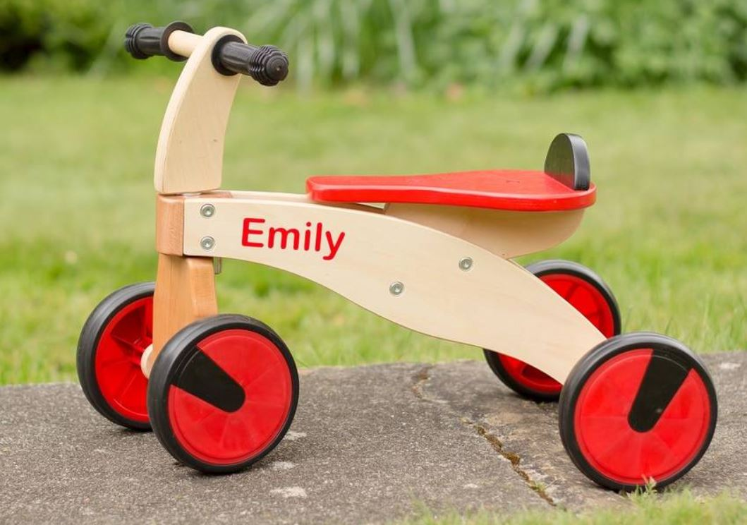 Personalised Wooden Toddler Bike