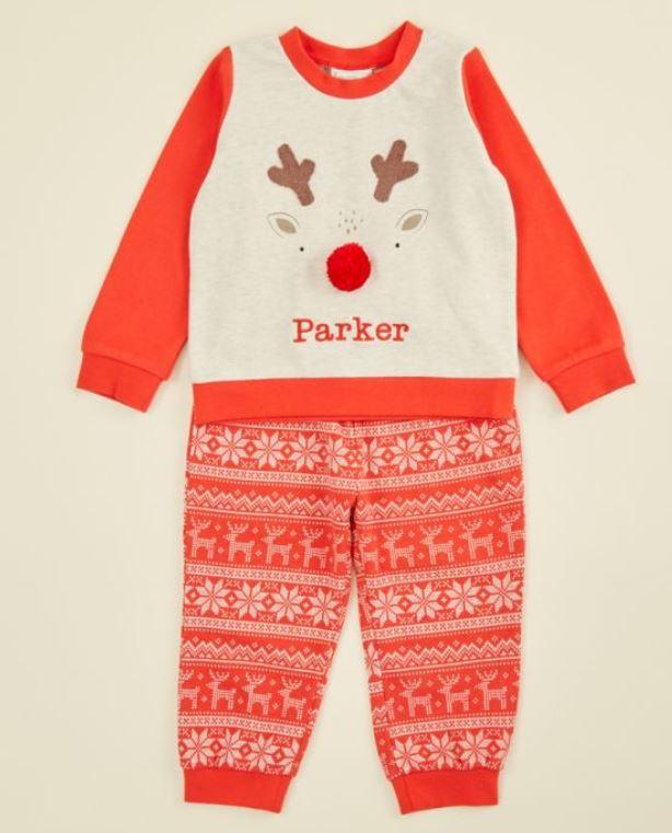 Red Reindeer Christmas Pyjama Set