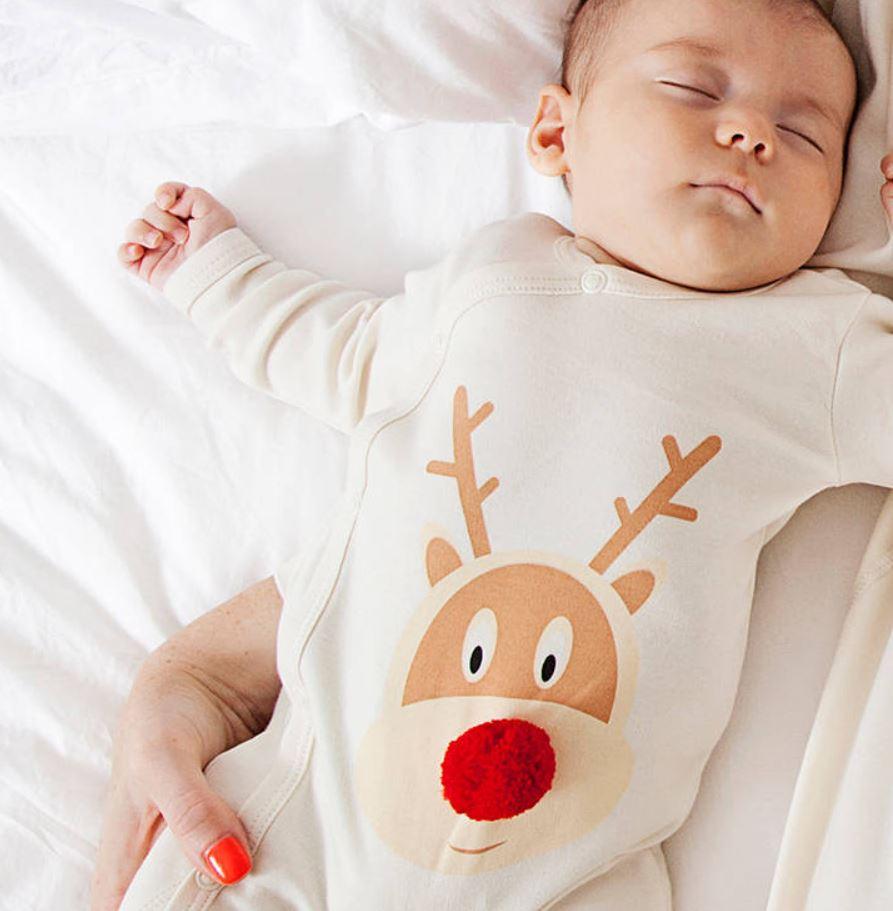 First Christmas Reindeer Romper
