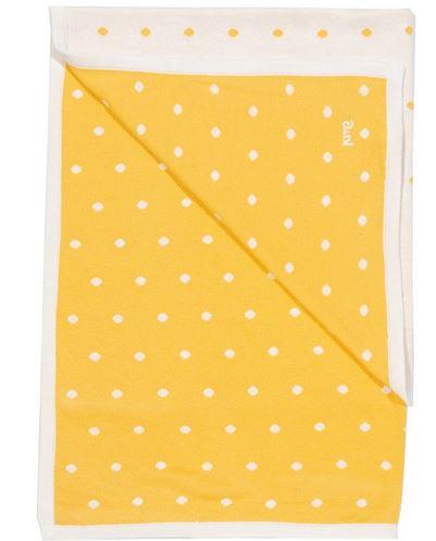Kite Yellow Polka Dot Knit Blanket