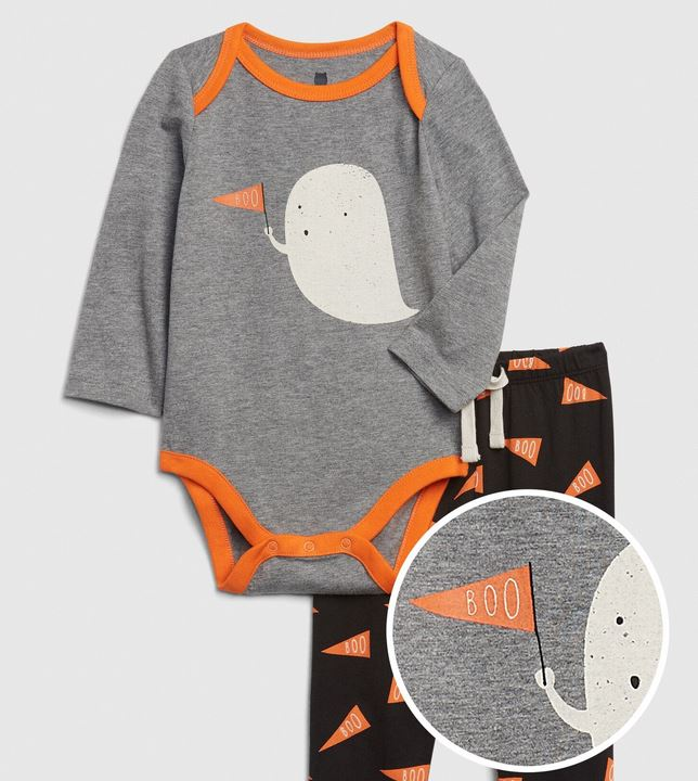 Baby Mix and Match Long Sleeve Graphic Outfit Set,