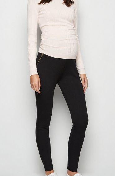 Maternity Black Zip Leggings