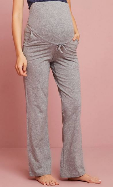 Before-After Grey Yoga Trousers