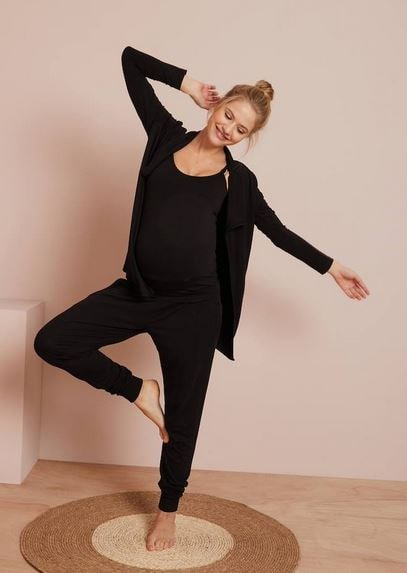 Maternity & Nursing Loungewear 3-Piece Kit – black