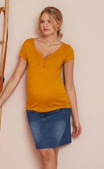 Granddad-Style Maternity T-Shirt