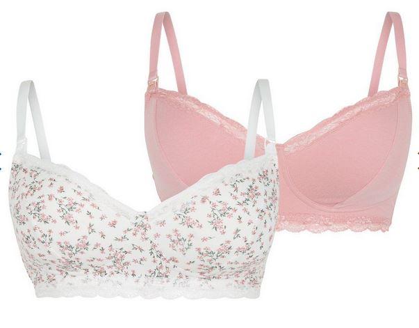 Pink Floral Non Padded Nursing Bras
