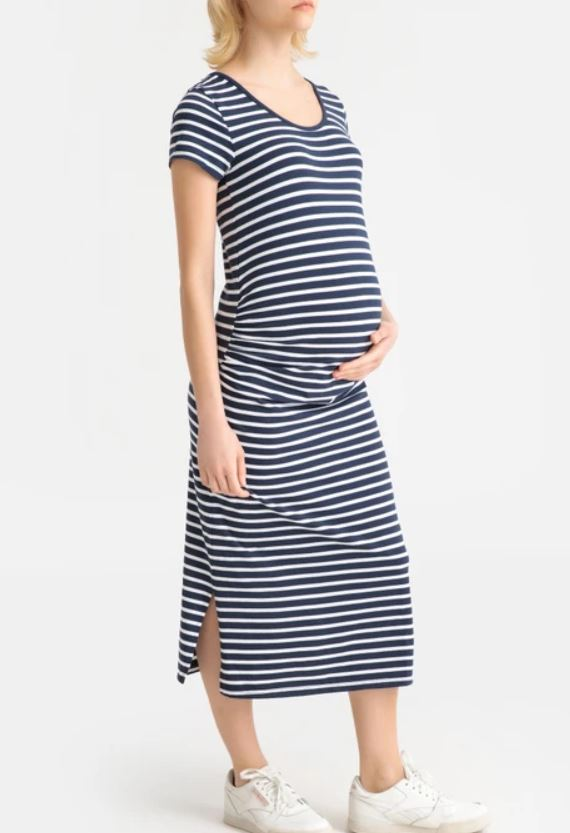 Short-Sleeved Maternity Dress