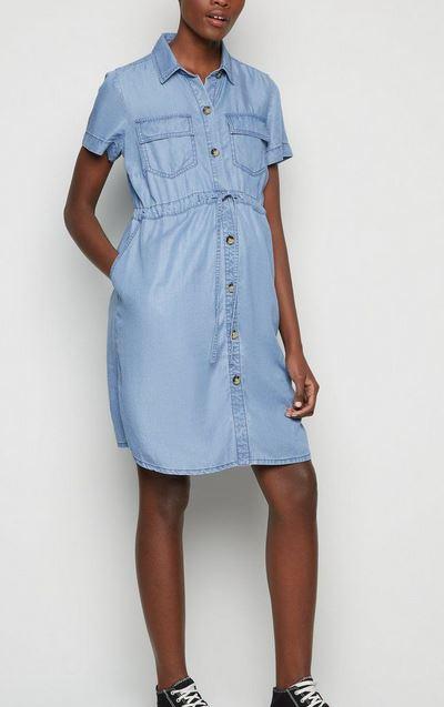 Maternity Mini Shirt Dress