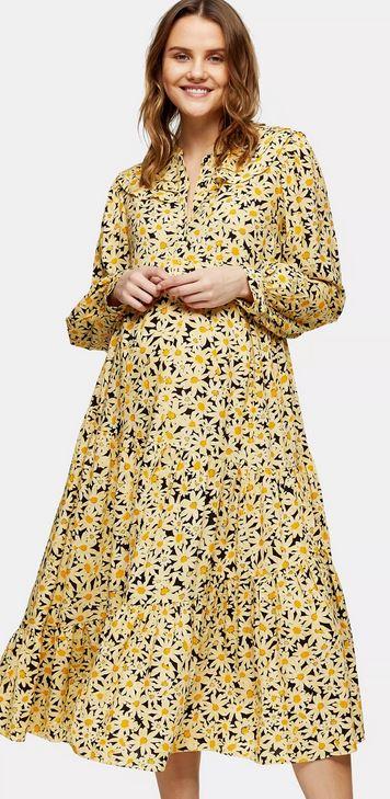 Maternity Daisy Grandad Shirt Dress