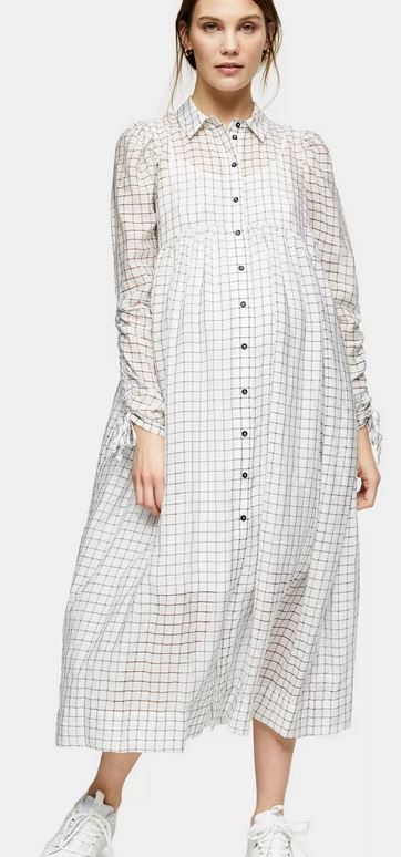 Maternity Ivory Shirt Dress