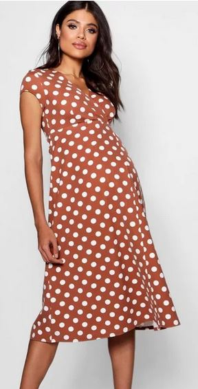 Maternity Polka Dot Wrap Dress
