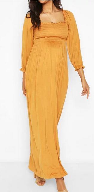 Maternity Shirred Smock Dress
