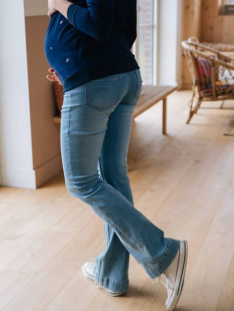 Maternity flare jeans