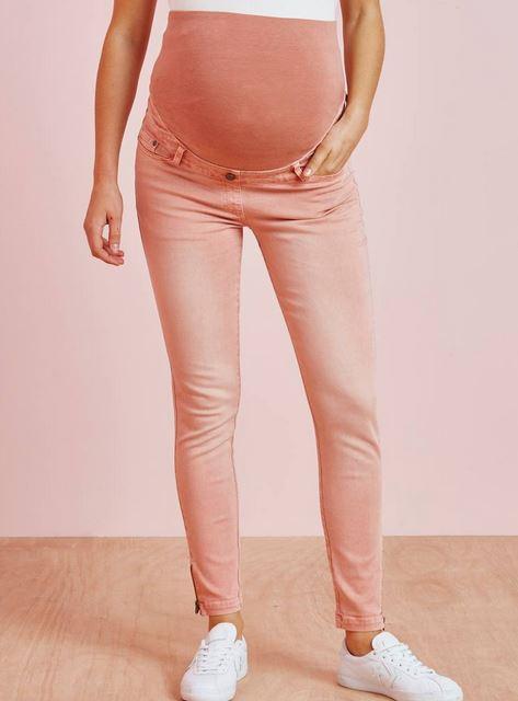 Pastel maternity jeans
