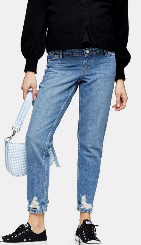 Maternity mid-stone jeans