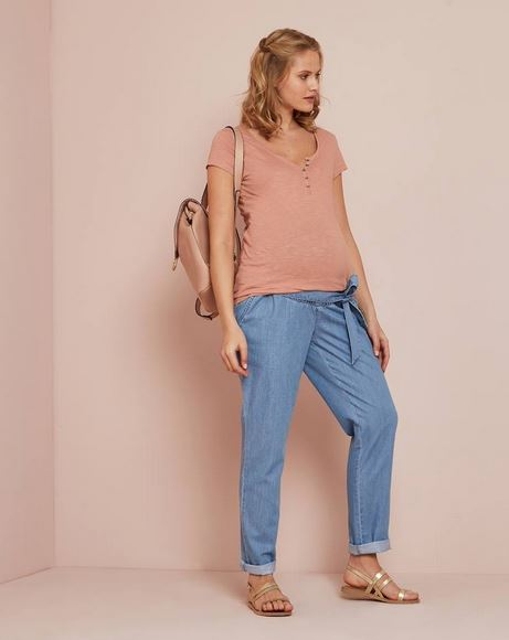 Maternity Paperbag Jeans with Belt
