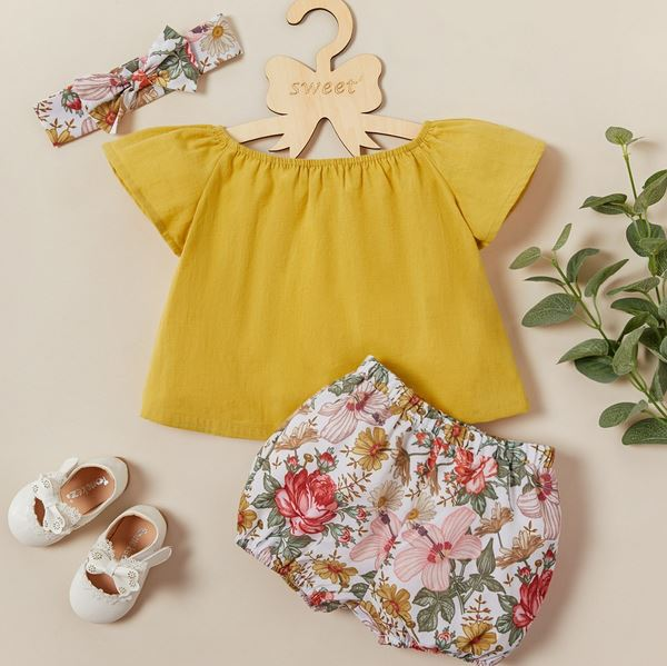Sweet Floral Baby Set