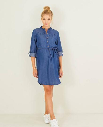 Light Blue Denim Shirt Dress